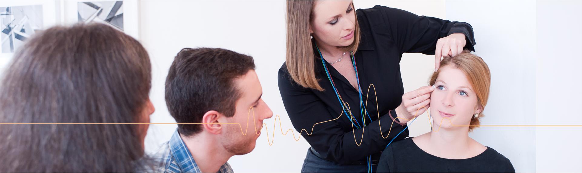 neurofeedback electrode demonstration